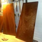 New locker hatches after a few coats of varnish