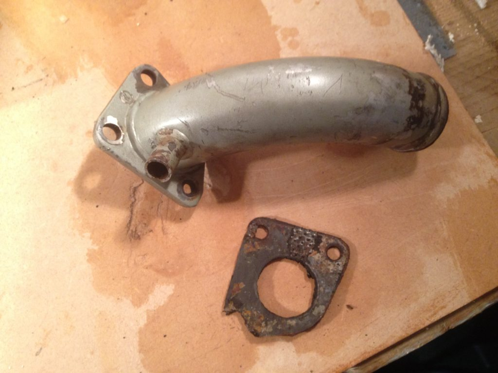 Exhaust elbow removed