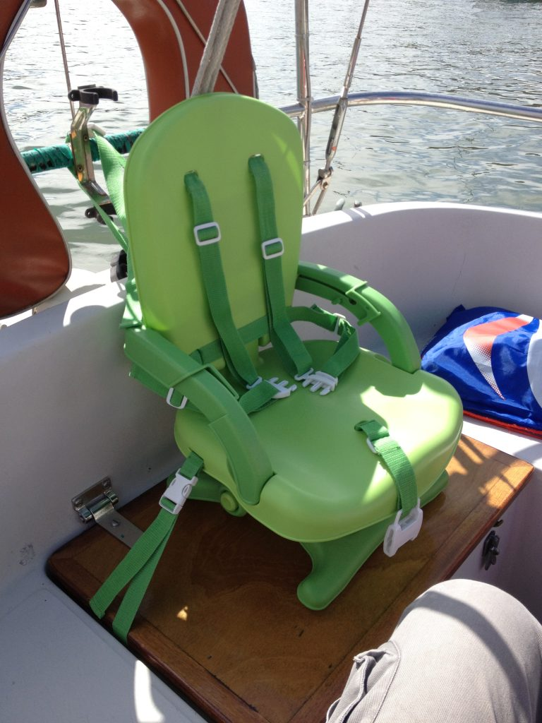 Feeding chair in place