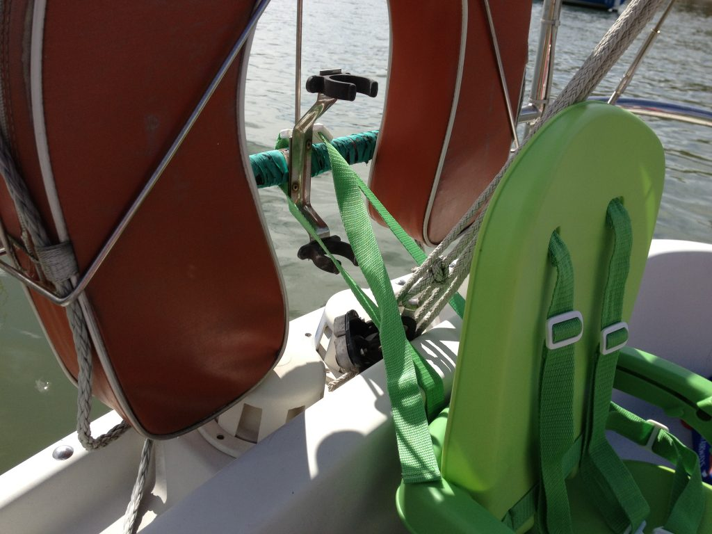 Feeding chair attached aft