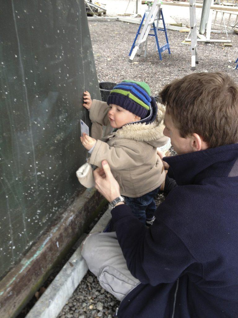 Thomas helping remove barnacle feet