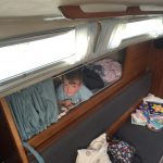 Thomas in his cosy pilot berth