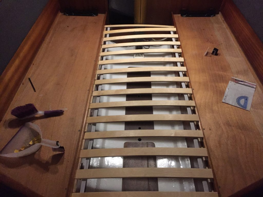Slats offered up to the rails