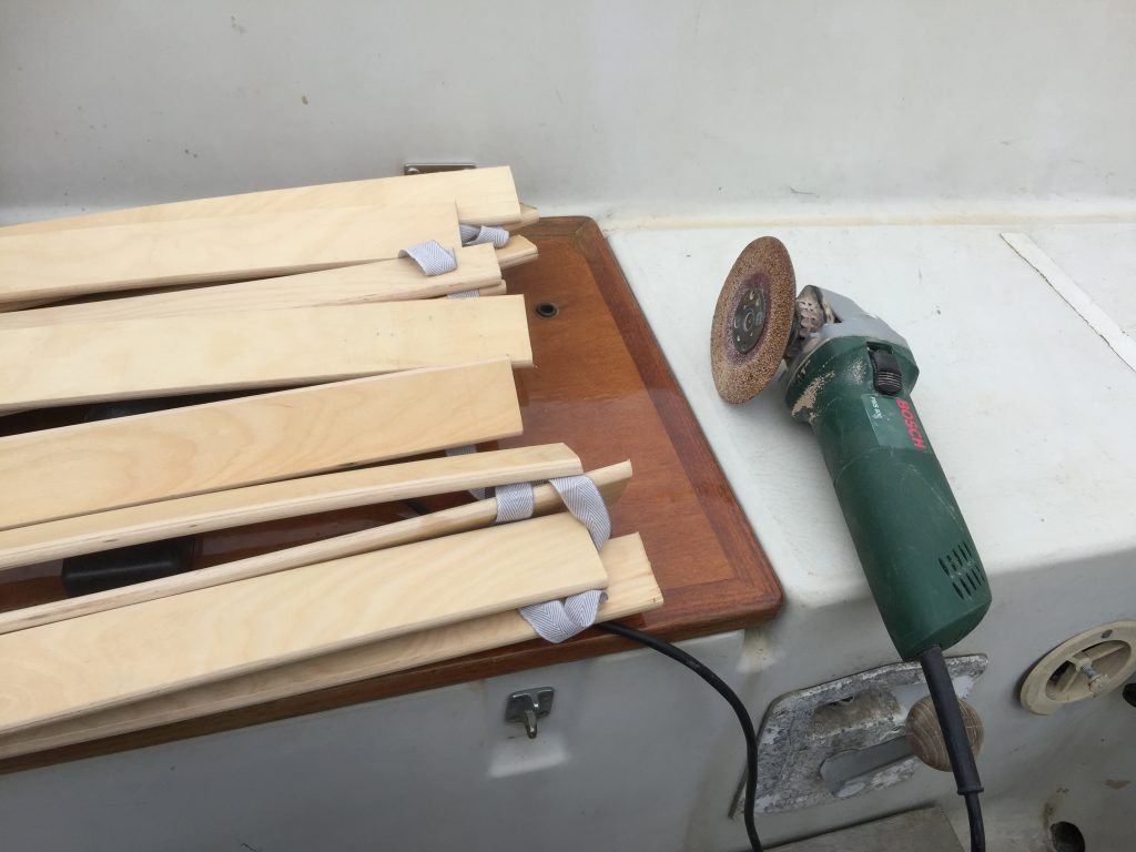 Grinding down the slats