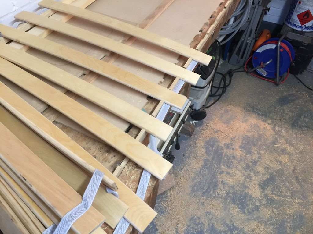 Offer up slats to the rails