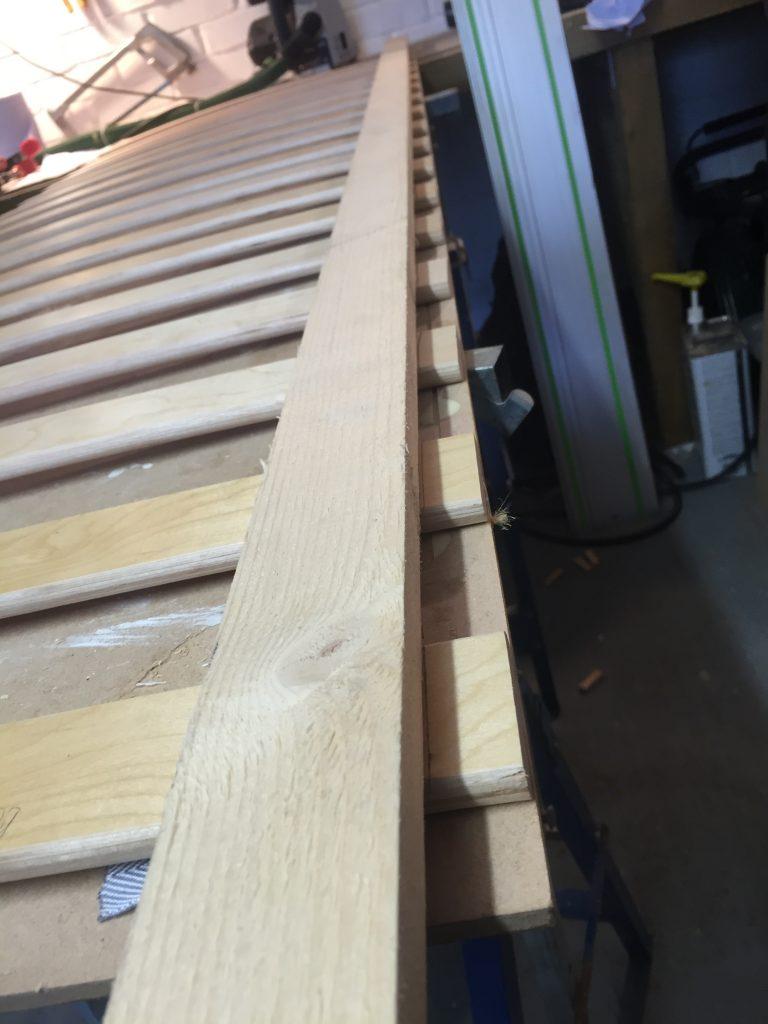 Straight edge to mark slats
