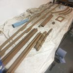 All the teak ready to varnish