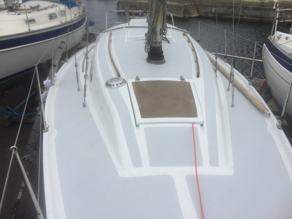 Painted deck looking aft